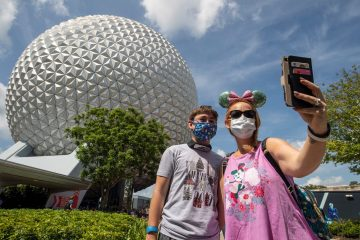 Disney World with masks-1