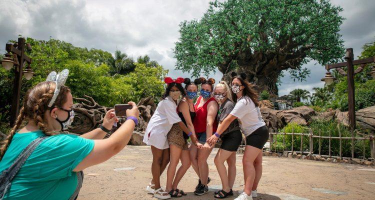 Disney World with masks-4