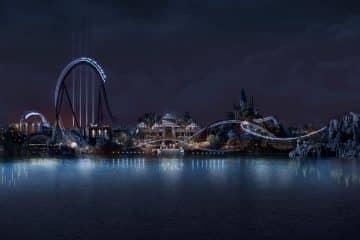 Jurassic World VelociCoaster concept art (Universal)