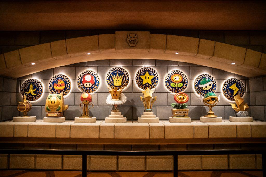 Trophies inside Bowser's Castle (Universal)