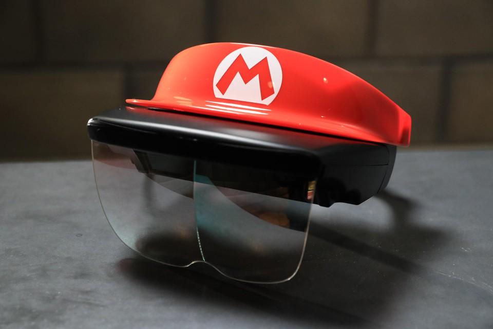 The AR headset for Mario Kart: Koopa's Challenge (Universal)