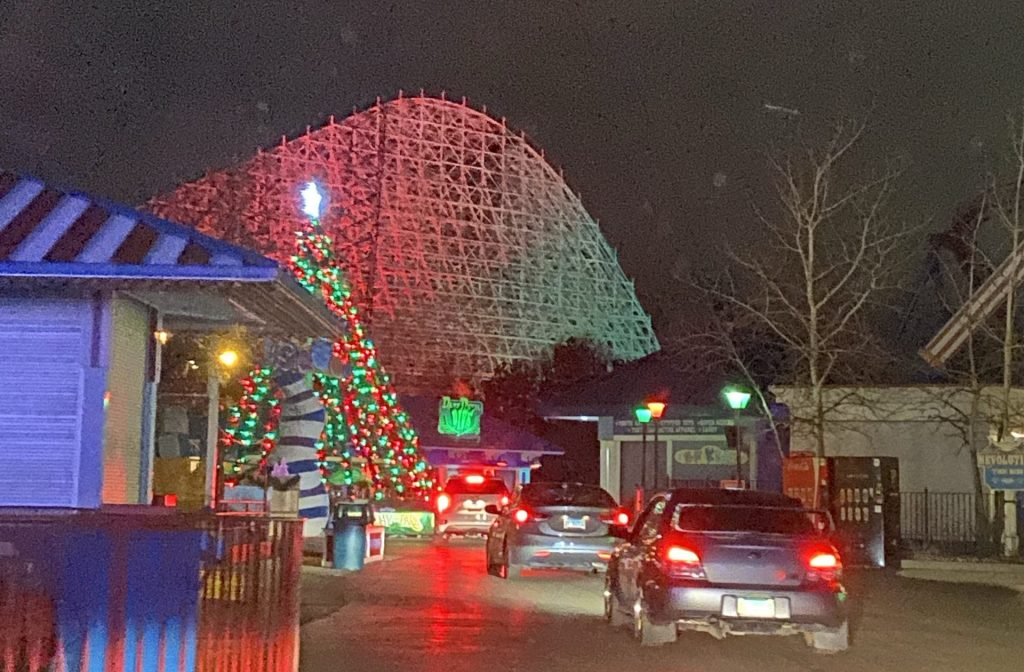 Six Flags Great America holiday lights